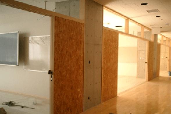 東京都の公立中学校校舎改修の施工事例 (1)